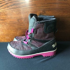 SOREL Waterproof Trivoli Boots Pink/Black